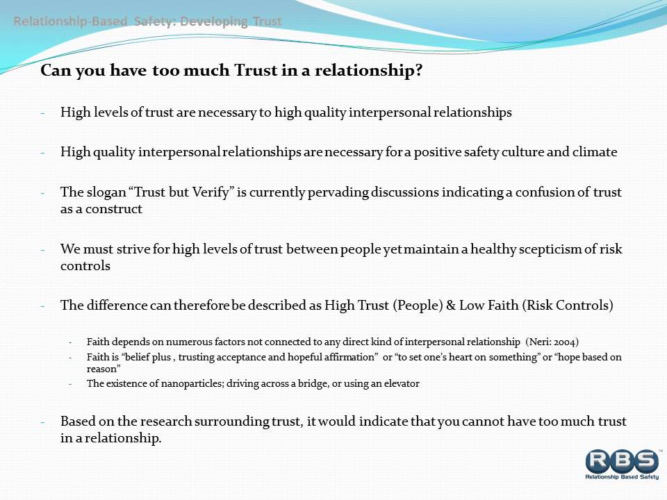 a relationship is based on trust