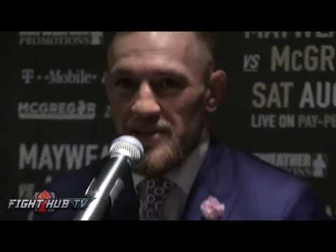 Conor McGregor 'If He feels disrespected he's an idiot, FUCK HIM' talks Mayweather