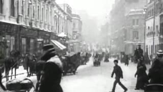 1908 г. Москва. Улица Кузнецкий мост. Кинохроника