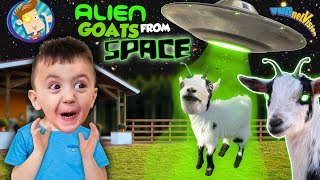 Goats from Space! (FUNnel Fam Vlog: Farm Vision)