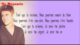 Justin Bieber feat Big Sean - As Long As You Love Me (Traduction française)