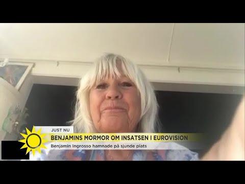 Mormor Christina Schollin om Benjamins insats i Eurovision: Vi är så otroligt stolta   Nyhetsmorgon