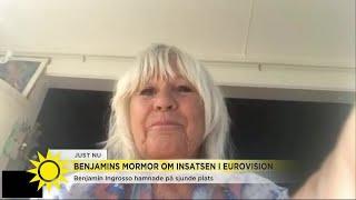 Mormor Christina Schollin om Benjamins insats i Eurovision: Vi är så otroligt stolta  - Nyhetsmorgon