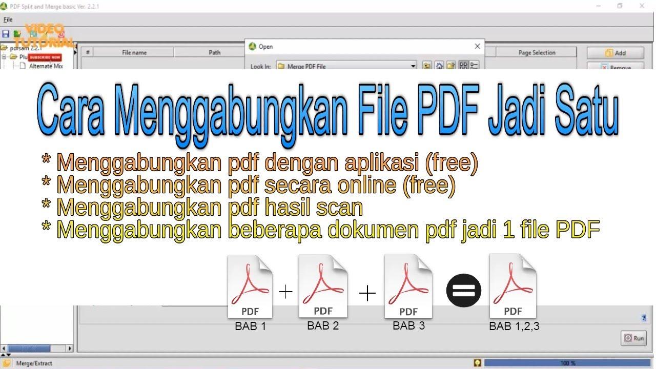 Cara Menggabungkan Merge File Pdf Menjadi Satu Di Laptop Tanpa Aplikasi Pakai Aplikasi Youtube