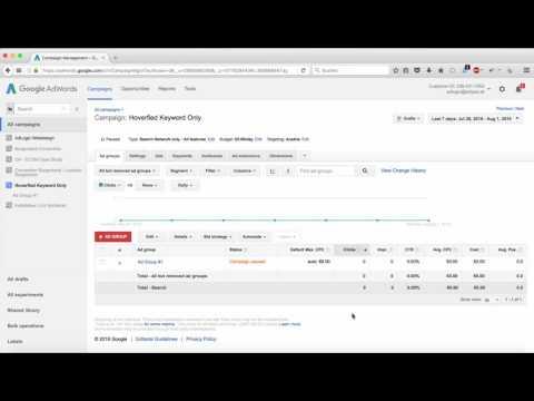 Tutorial 2 - Google Adwords