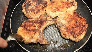 How to BBQ Bone in Pork Chops in a Frying Pan