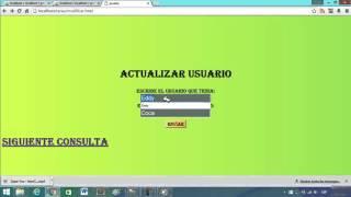 Tutorial sobre consultas en php,html and phpmyadmin