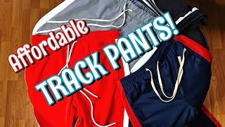 TRACK PANTS! AFFORDABLE OPTIONS FOR SPRING & SUMMER - STYLISH PANTS ON A BUDGET