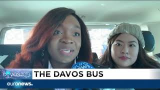 Euronews takes you on a ride on the Davos Bus | #GME