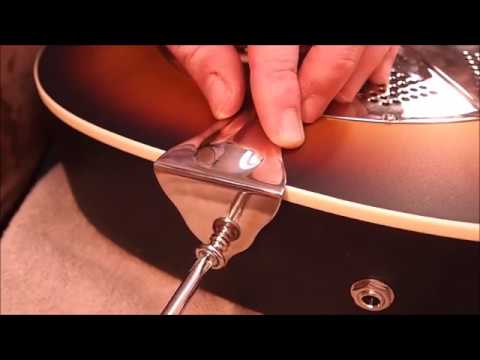 National Guitar Pickup And Strap Button Installation