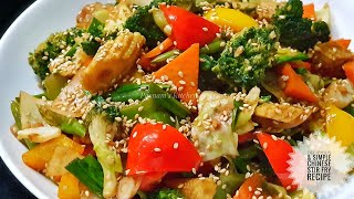 Vegetable Stir Fry Recipe/ Restaurant Style Stir Fry Recipe - How to make Stir Fry at home