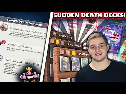 SUDDEN DEATH CHALLENGE TIPPS! | 12 Siege mit diesen Decks! | Clash Royale Deutsch