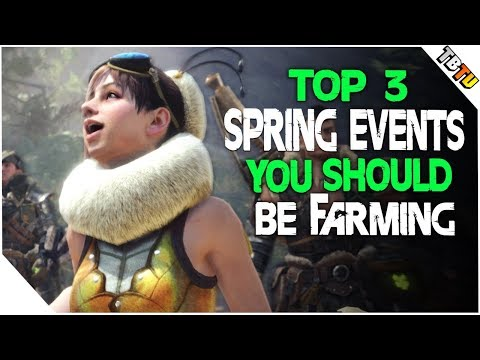 TOP 3 Spring Blossom Events You Should Be Farming! Monster Hunter World Event Quests