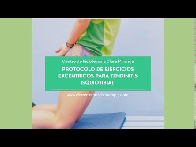 Ejercicios excéntricos par mejorar tendinopatía isquiotibial