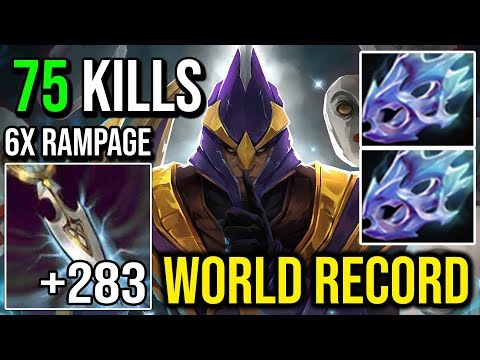 283 Intelligence Steal Silencer | 6X RAMPAGE 75 KILLS NEW WORLD RECORD - DOTA 2 2019