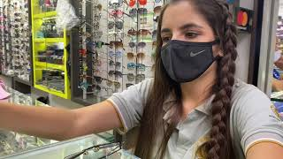 Downtown Medellin El Centro Hustled in Crowded Streets Girl Sells Me Glasses Cheap Shopping