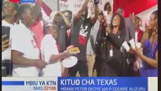 Msanii Peter Okoye wa P-Square azuru kituo cha Texas Cancer Centre jijini Nairobi