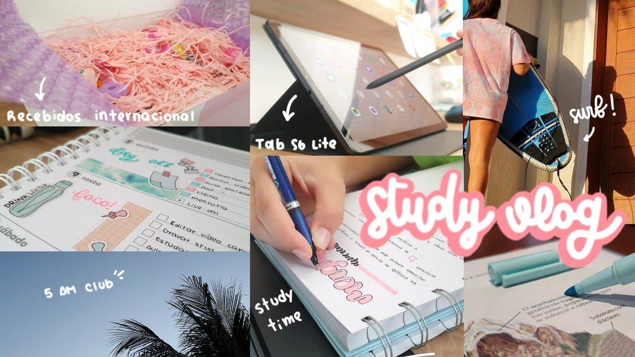 STUDY VLOG + Recebidos Internacional: Material volta às aulas / Back to School (Stationery Pal)