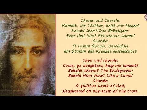 St. Matthew Passion no.1 byJohann Sebastian Bach - song: Come, ye daughters, help me lament