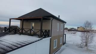 видео Проект деревянного одноэтажного дома c мансардой общей площадью 57.40 м2
