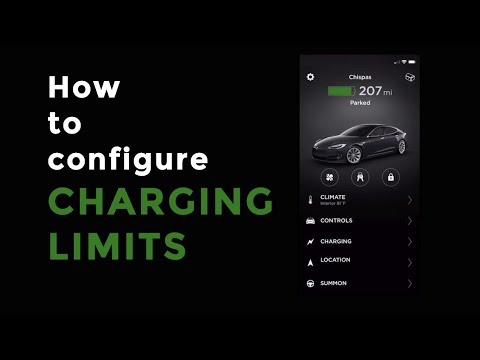Tesla: How to set your charging limits