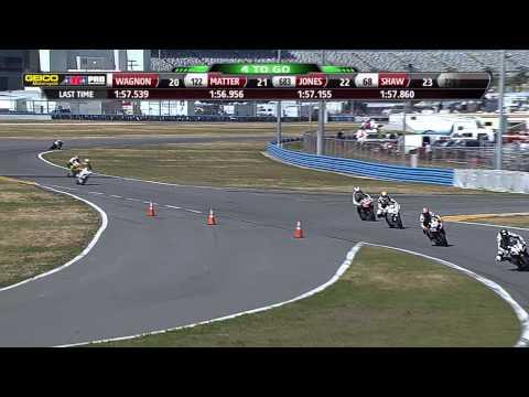 2013 DAYTONA 200 Week - AMA Pro Motorcycle-Superstore.com SuperSport Race 1 FULL Race (HD)