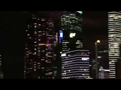 Night scene of the Esplanade Singapore