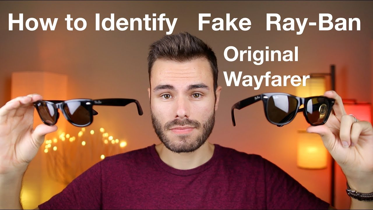 f96d6123d6 How to Identify Fake Ray-Ban Original Wayfarer Classic - YouTube