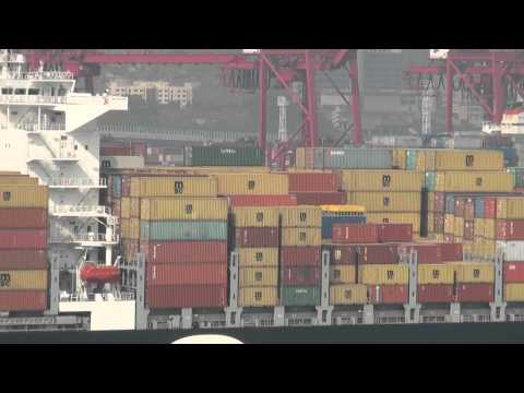 busy Hong Kong  port