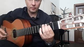 Простая.Красивая Мелодия На Гитаре.Урок.Перебор
