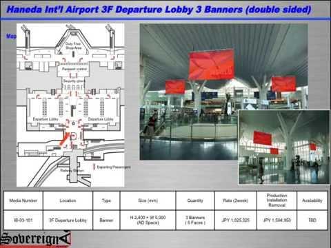 TOKYO HANEDA AIRPORT ADVERTISING / HND Ad Space Options Sampler