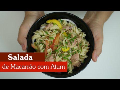SALADA COLORIDA DE MACARRÃO COM ATUM, SUPER FÁCIL DE FAZER