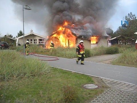 Ferienhaus brennt auf dem Priwall