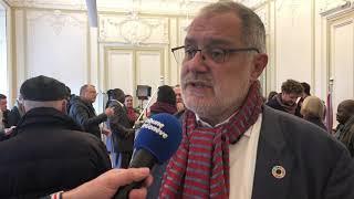 Carlo Sommaruga (PS) se réjouit de sa victoire, arrivé en seconde position au Conseil des Etats