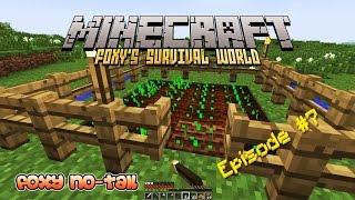 Minecraft Survival - How to build a 16 Block Farm [7]