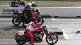 KTM motorcycles vs Harley Davidson motorcycles-drag racing