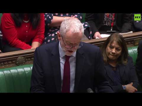 Corbyn reacts after MPs vote to extend Article 50