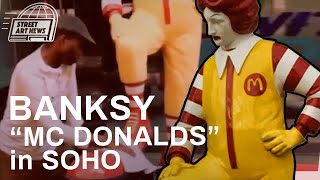"Banksy's ""McDonalds"" October 20th Footage - Appeared in Soho with a New Cleaner"