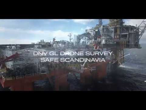 DNV GL offshore drone survey on board Safe Scandinavia