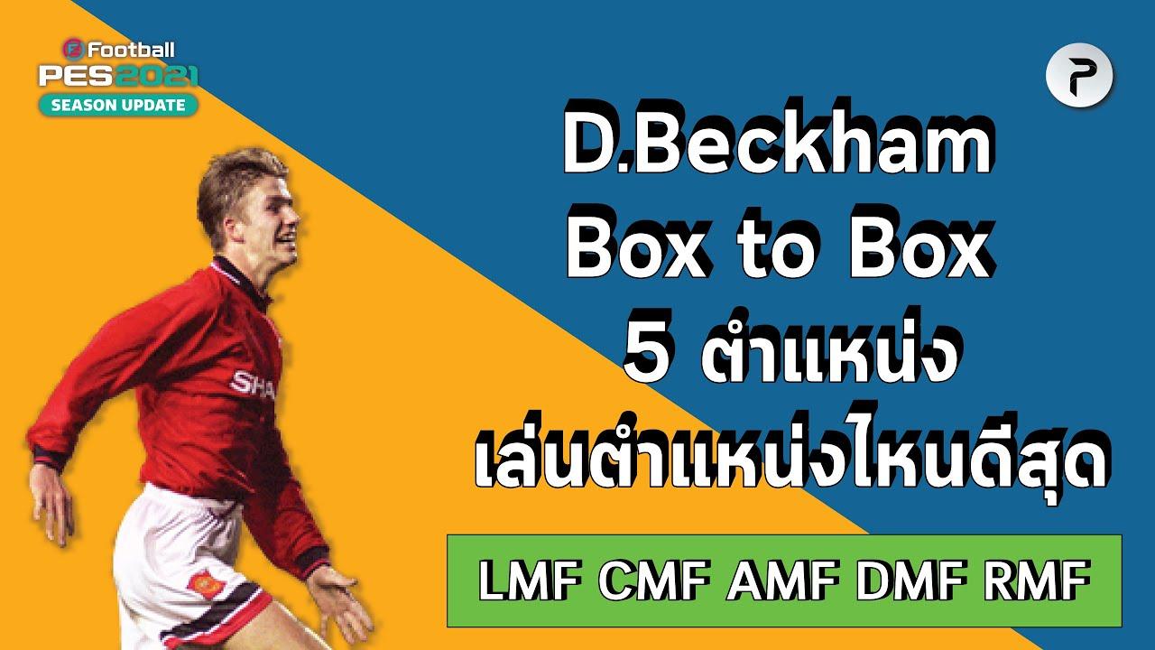 นักเตะหลายตำแหน่ง (EP1) D. Beckham Box to Box เล่นตำแหน่งไหนดีที่สุด ?#Pes2021