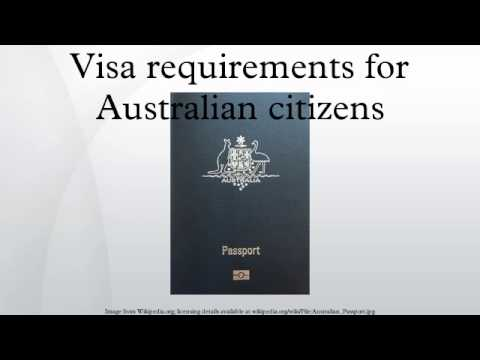 Visa requirements for Australian citizens