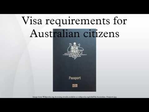 Visa requirements for Australian citizens