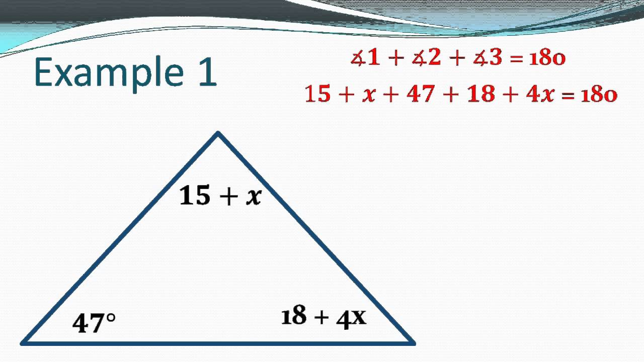 formulas for triangle side and angle relationship