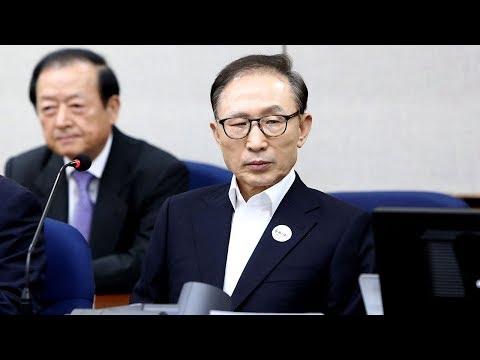 ROK ex-president Lee Myung-bak attends corruption trial