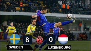 Sweden vs Luxembourg  8-0 All goals & Highlight - World Cup 2018 Qualification