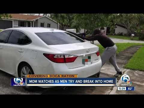 Mother said she watched on her phone as a group tried to break into her suburban Boca Raton home