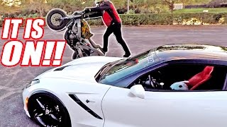 A**HOLE Biker Stunts Around My Car... Taught Him a Lesson!