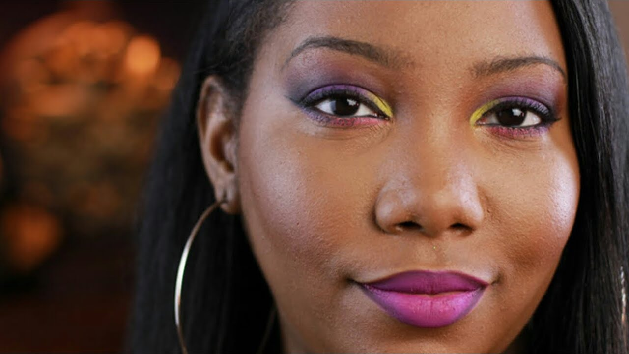 colorful makeup on dark skin bh cosmetics take me to brazil palette makeup tutorial youtube. Black Bedroom Furniture Sets. Home Design Ideas