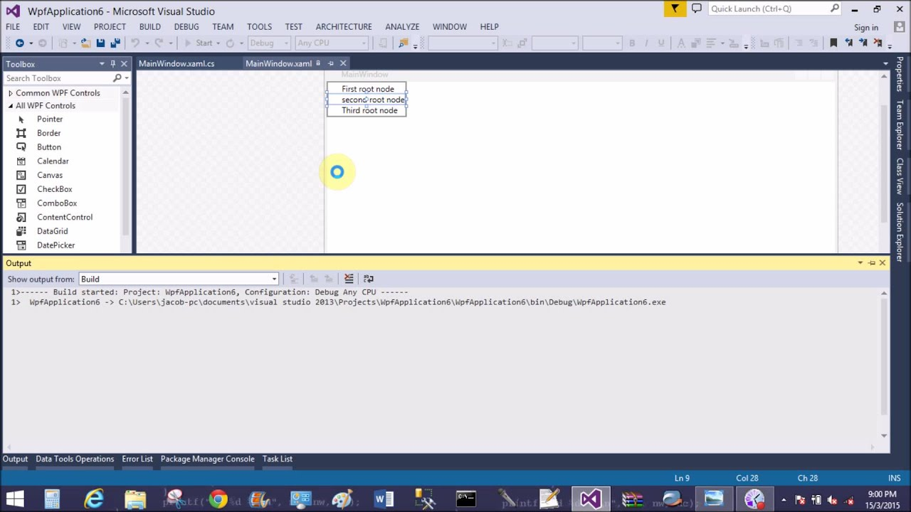 How to use tree view in WPF - YouTube