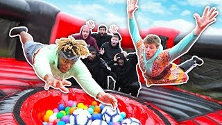 SIDEMEN GIANT INFLATABLE SLIP AND SLIDE CHALLENGE